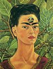Frida Kahlo Thinking about Death painting
