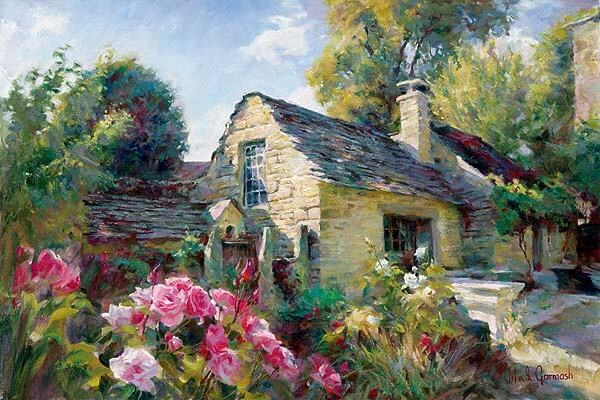 Garmash la maison de provence painting best paintings for A la maison de provence