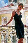 Garmash Afternoon on the Balcony painting