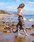 Beach paintings - Toes in the Sand by Garmash
