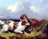 George Armfield Spaniels Flushing Game painting