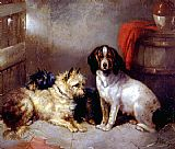 George Armfield Terriers and Hound painting