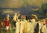 George Bellows Polo Crowd painting