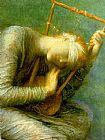 George Frederick Watts Hope detail painting
