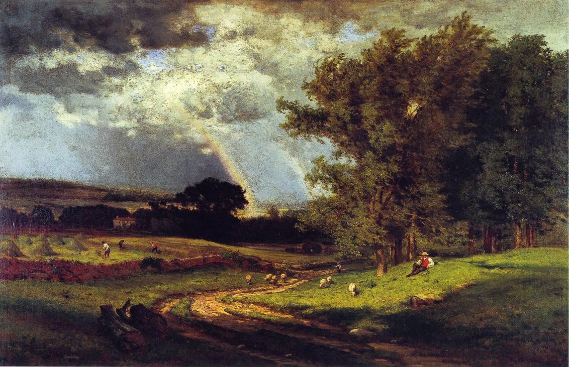 George Inness A Passing Shower