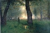 George Inness The Trout Brook painting