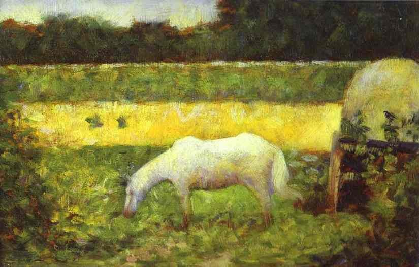 Georges Seurat Landscape with a Horse