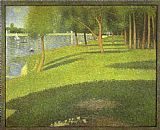Georges Seurat The Island of La Grande Jatte painting