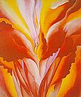 Georgia O'Keeffe Red Canna'24 painting