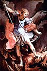 Figure Classic paintings - The Archangel Michael by Guido Reni