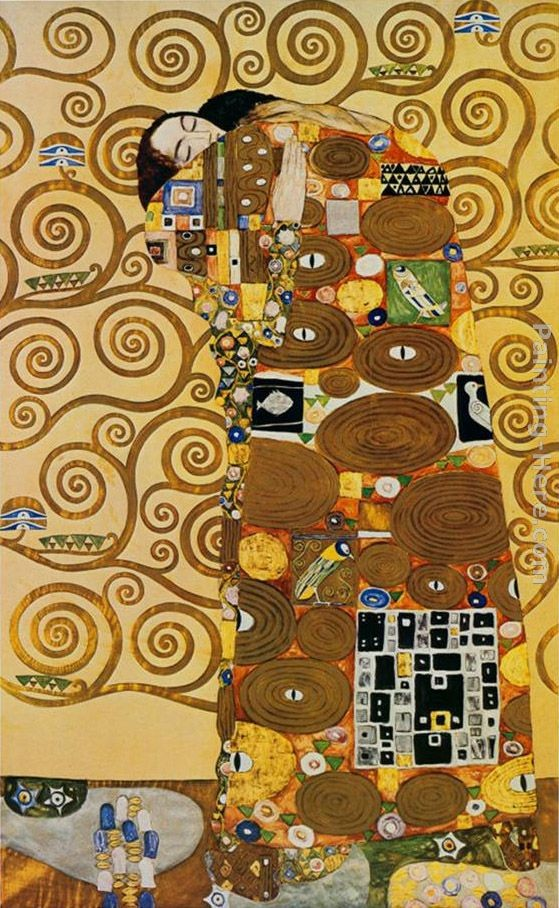 Gustav klimt fulfillment stoclet frieze painting best for Gustav klimt original paintings for sale