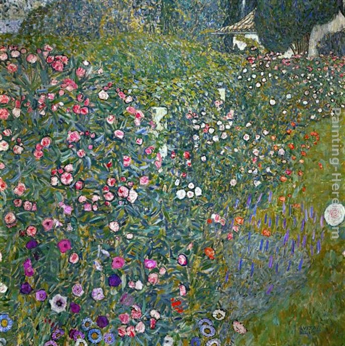 Gustav klimt italian garden landscape painting best for Gustav klimt original paintings for sale