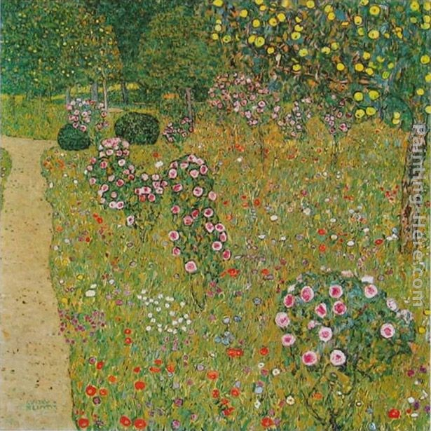 Gustav klimt orchard with roses painting best paintings for Gustav klimt original paintings for sale