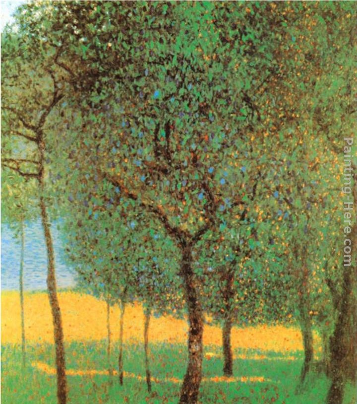 Gustav klimt orchard painting best paintings for sale for Gustav klimt original paintings for sale