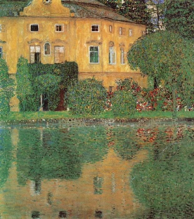 Gustav klimt schloss kammer sull 39 attersee painting best for Gustav klimt original paintings for sale