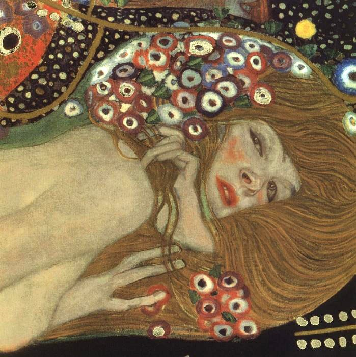 Gustav Klimt Sea Serpents III (detail)