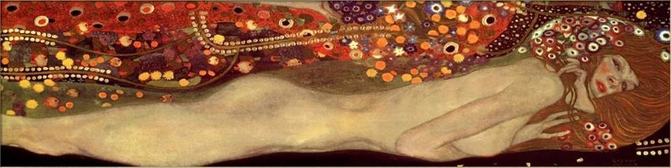 Gustav Klimt Sea Serpents III