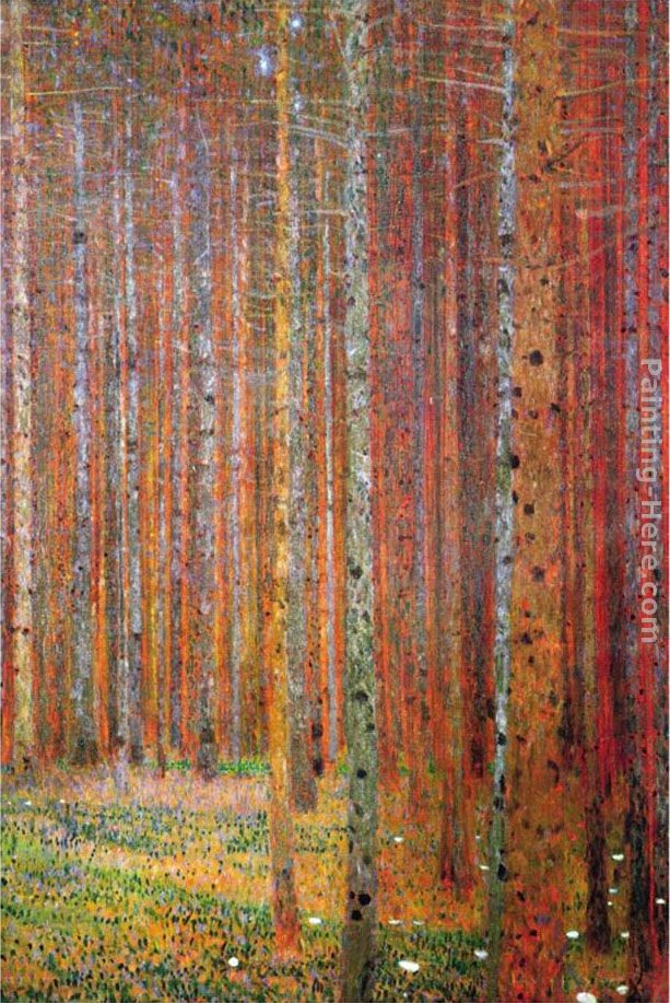 Gustav klimt tannenwald painting best paintings for sale for Gustav klimt original paintings for sale