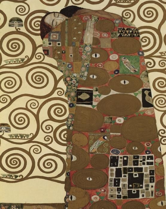 Gustav Klimt The Fulfillment (detail I)