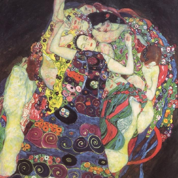 Gustav klimt the virgins le vergini painting best for Gustav klimt original paintings for sale