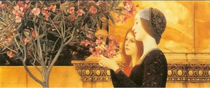 Gustav klimt two girls with oleander painting best for Gustav klimt original paintings for sale