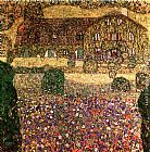 Gustav Klimt Country House by the Attersee painting