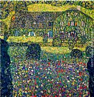 Gustav Klimt Country House on Attersee Lake, Upper Austria painting