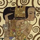 Gustav Klimt Expectation (detail) painting