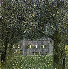 Gustav Klimt Farmhouse in Upper Austria painting