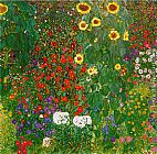 Gustav Klimt Garden with Sunflowers 1905-6 painting