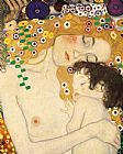 Gustav Klimt Mother and Child detail from The Three Ages of Woman painting