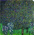 Gustav Klimt Roses Under the Trees, circa 1905 painting