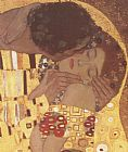 Gustav Klimt The Kiss (detail) painting