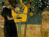 Gustav Klimt The Music painting