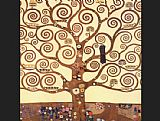 Gustav Klimt The Tree of Life Stoclet Frieze painting