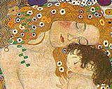 gustav klimt Paintings - Three Ages of Woman - Mother and Child (Detail)