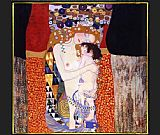 Gustav Klimt mother and child painting