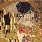Gustav Klimt the kiss detail painting