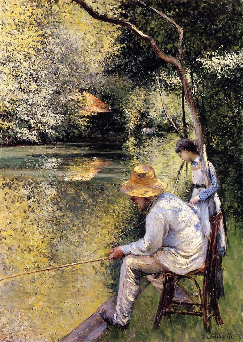 Gustave Caillebotte Fishing