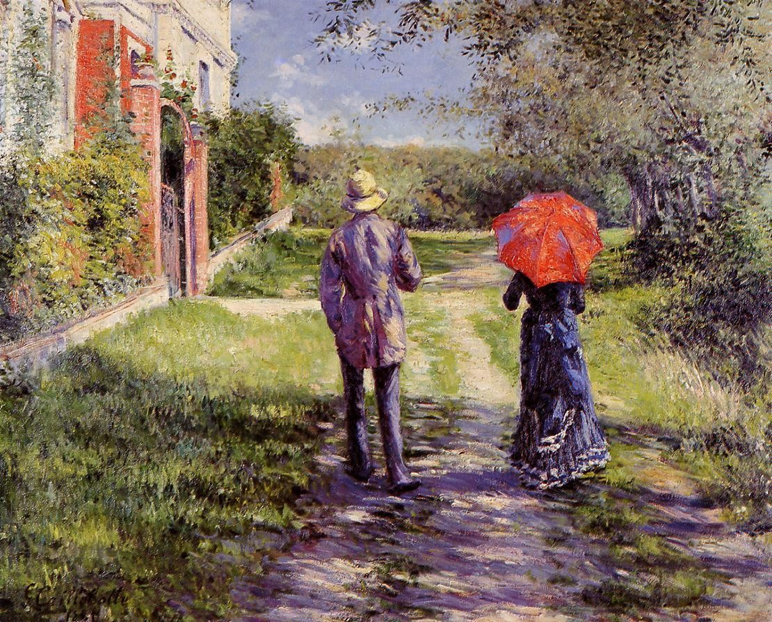 Gustave Caillebotte Rising Road