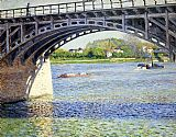 Gustave Caillebotte The Argenteuil Bridge and the Seine painting