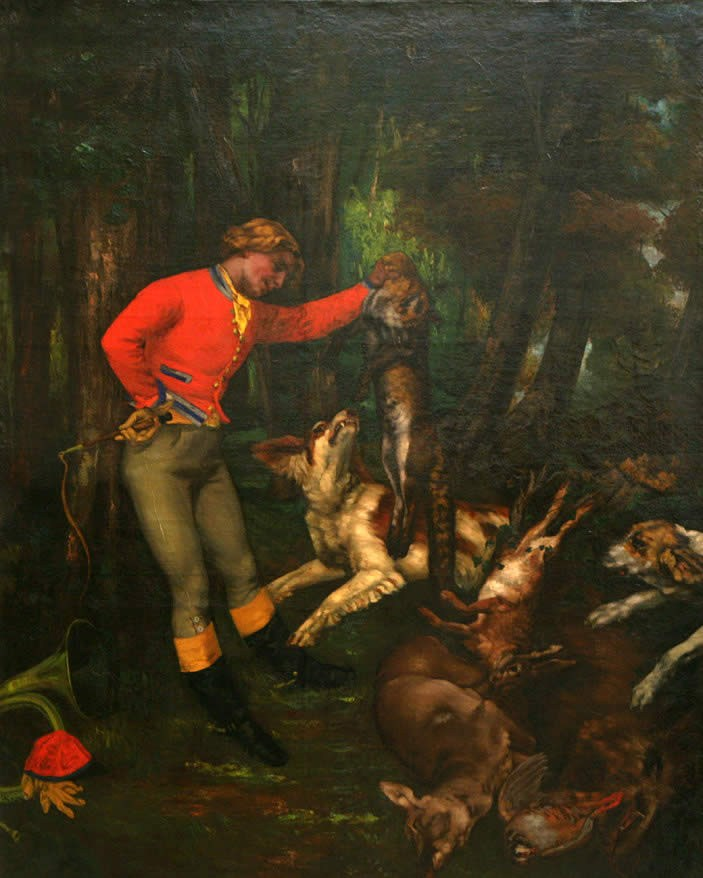 Gustave Courbet After the Hunt
