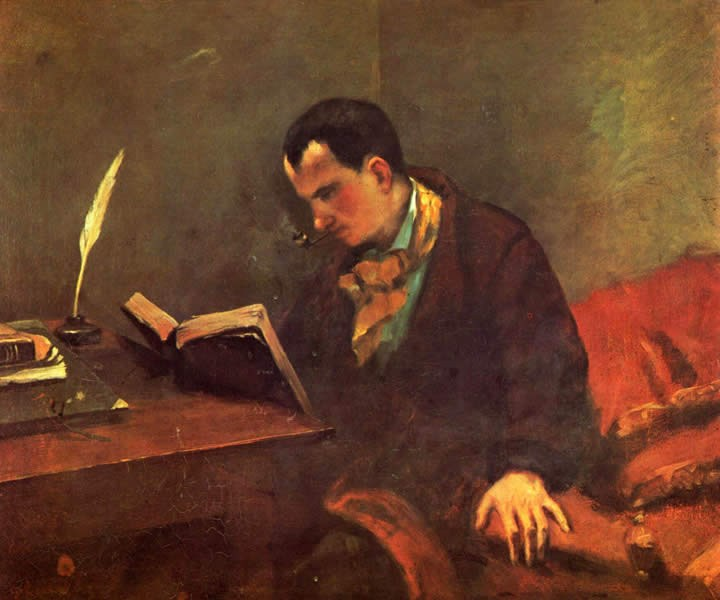 Gustave Courbet Portrait of Baudelaire