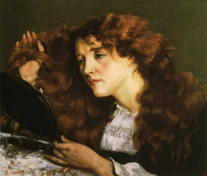 Gustave Courbet Portrait of Jo the Beautiful Irish Woman