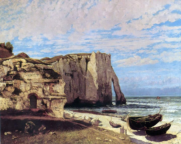 Gustave Courbet The Cliffs of tretat After the Storm