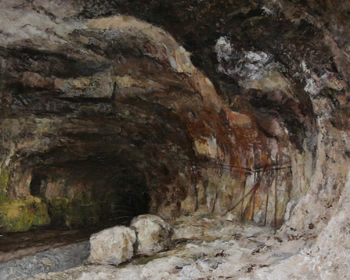 Gustave Courbet The Grotto of Sarrazine near Nans-sous-Sainte-Anne