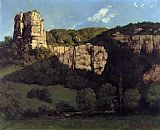 Gustave Courbet Bald Rock in the Valley of Ornans painting