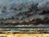 Gustave Courbet Calm Seas painting