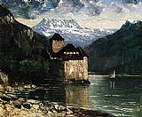 Gustave Courbet Ch_teau of Chillon 2 painting