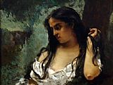 Gustave Courbet Gypsy in Reflection painting